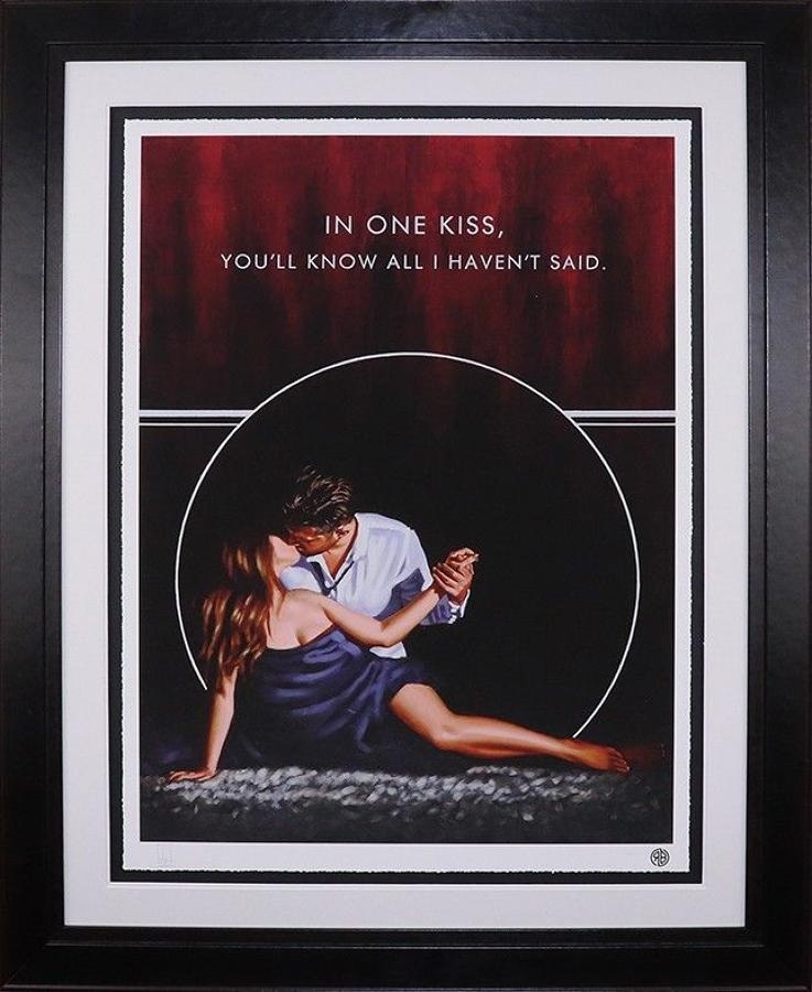 In One Kiss Framed Paper Art Print by Richard Blunt