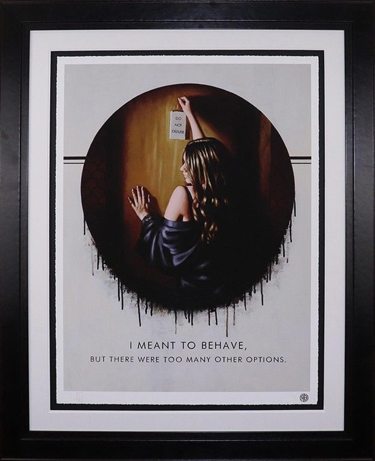 I Meant To Behave Framed Paper Art Print by Richard Blunt
