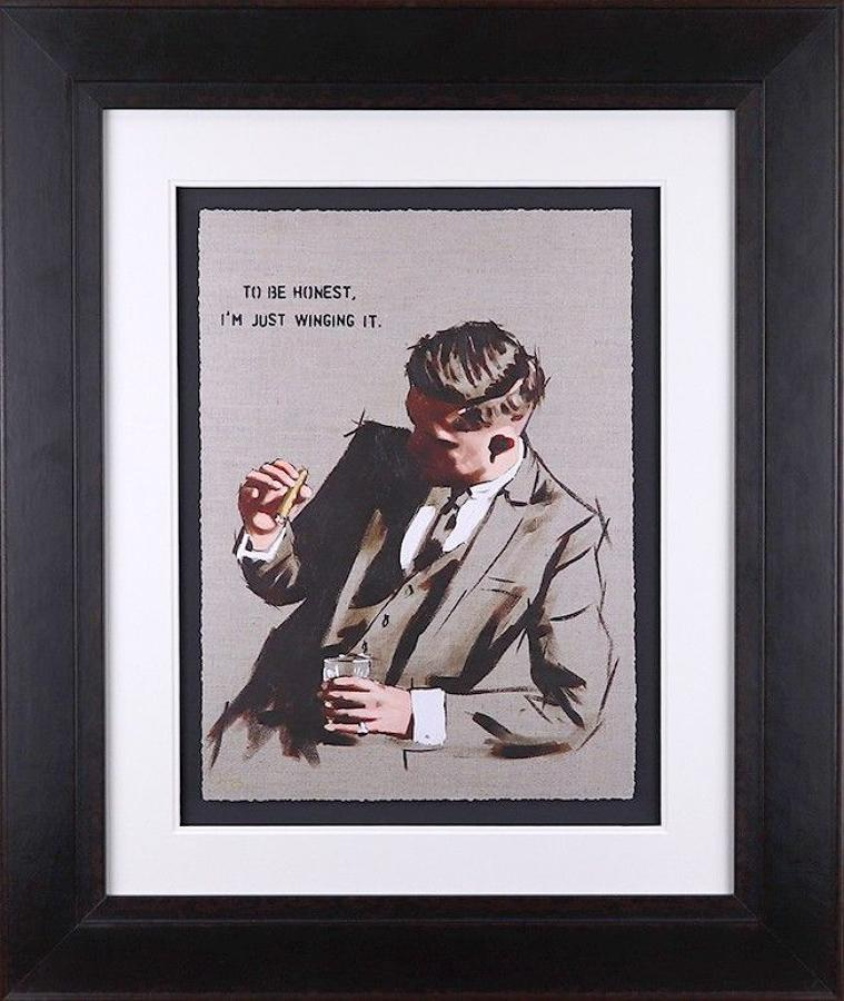 To Be Honest, I'm Just Winging It Study Framed Art Richard Blunt