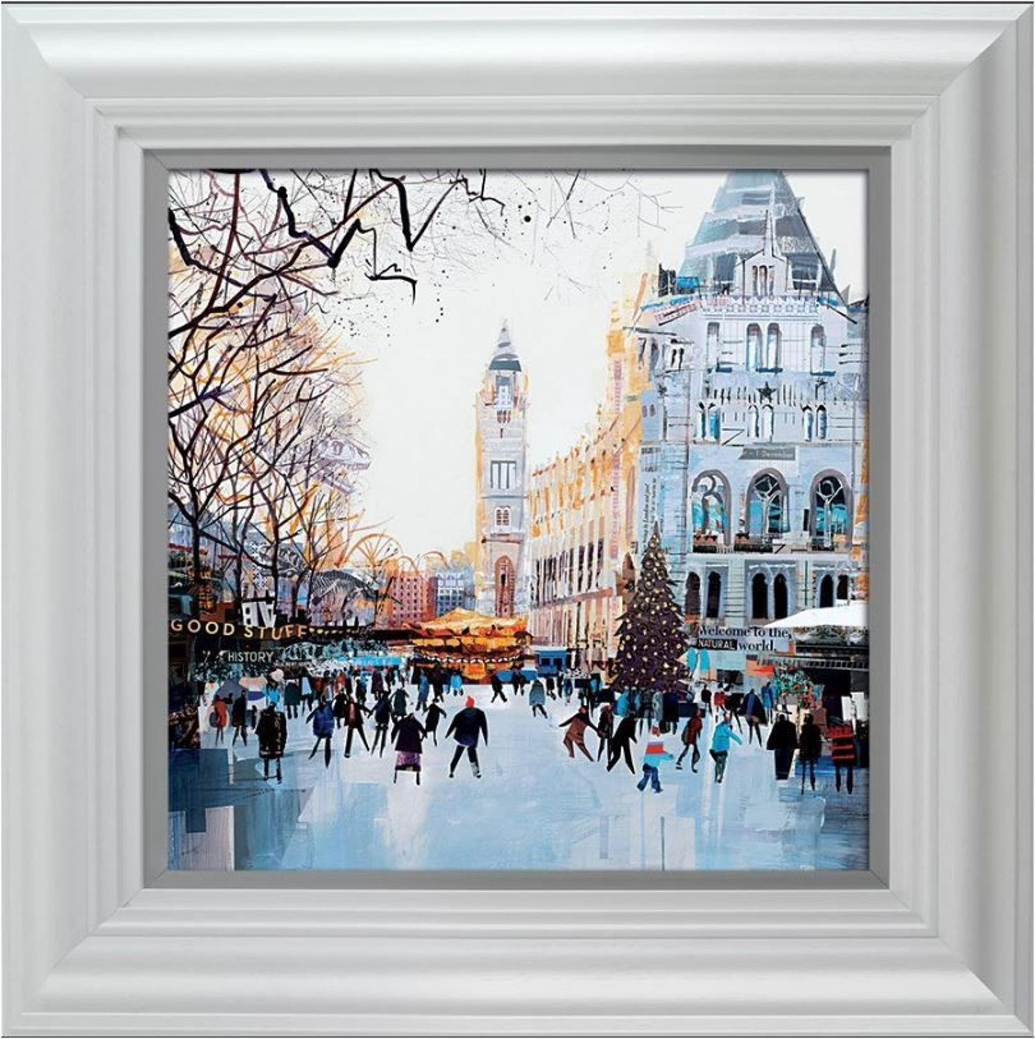Festive Skaters, Natural History Museum Framed Art by Tom Butler
