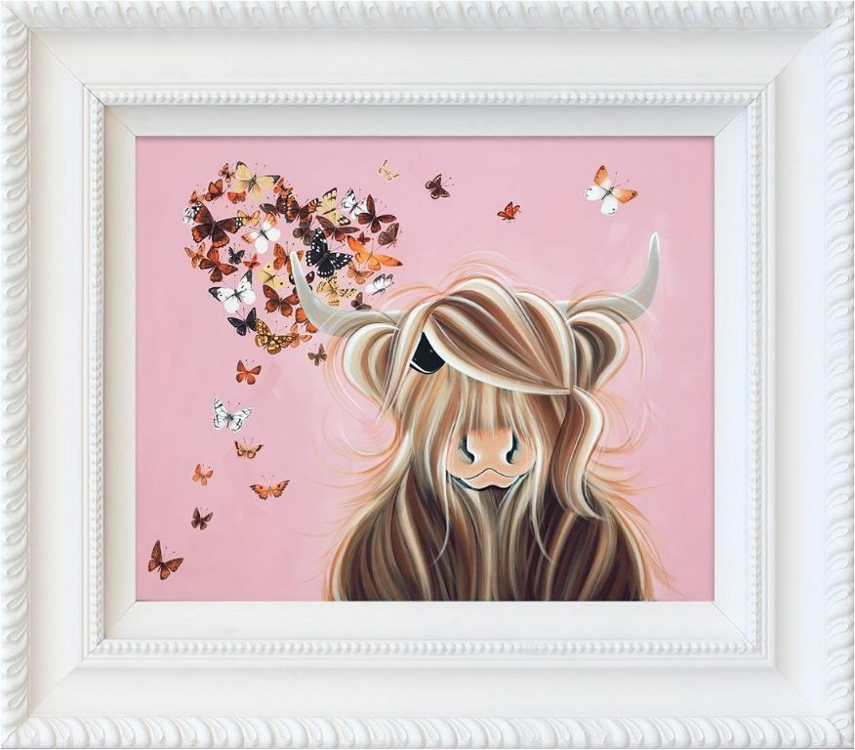 Flutterby Love Framed Art Print by Jennifer Hogwood
