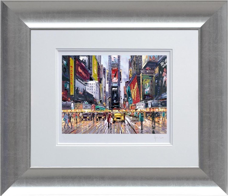 Henderson Cisz - Times Square Tour -  Framed Art Print