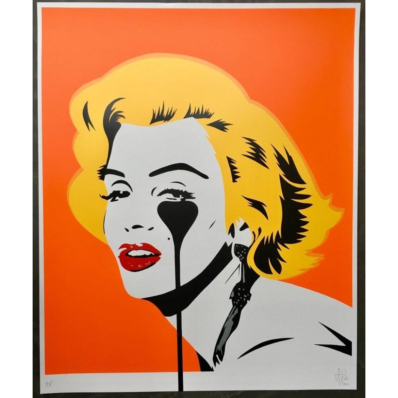Marilyn Glam- Tangerine Dream Framed Art Print by Pure Evil