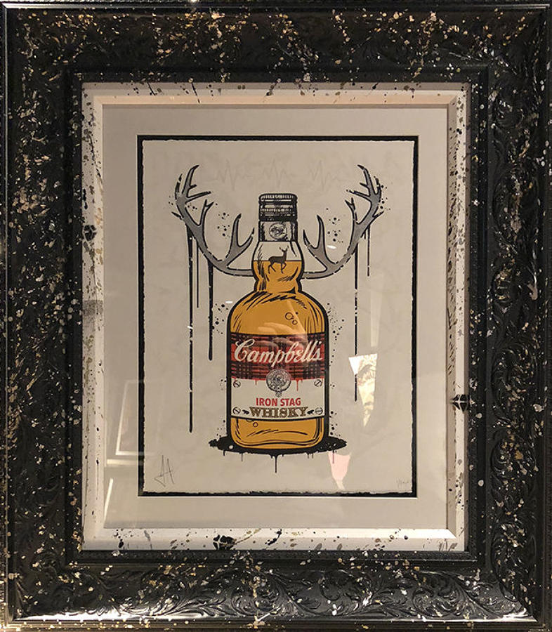 JJ Adams -Iron Stag Whisky Framed Art Print