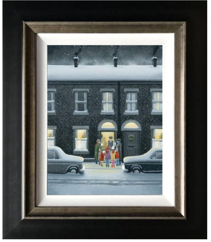 A Christmas Carol Framed Canvas Art Print by Leigh Lambert