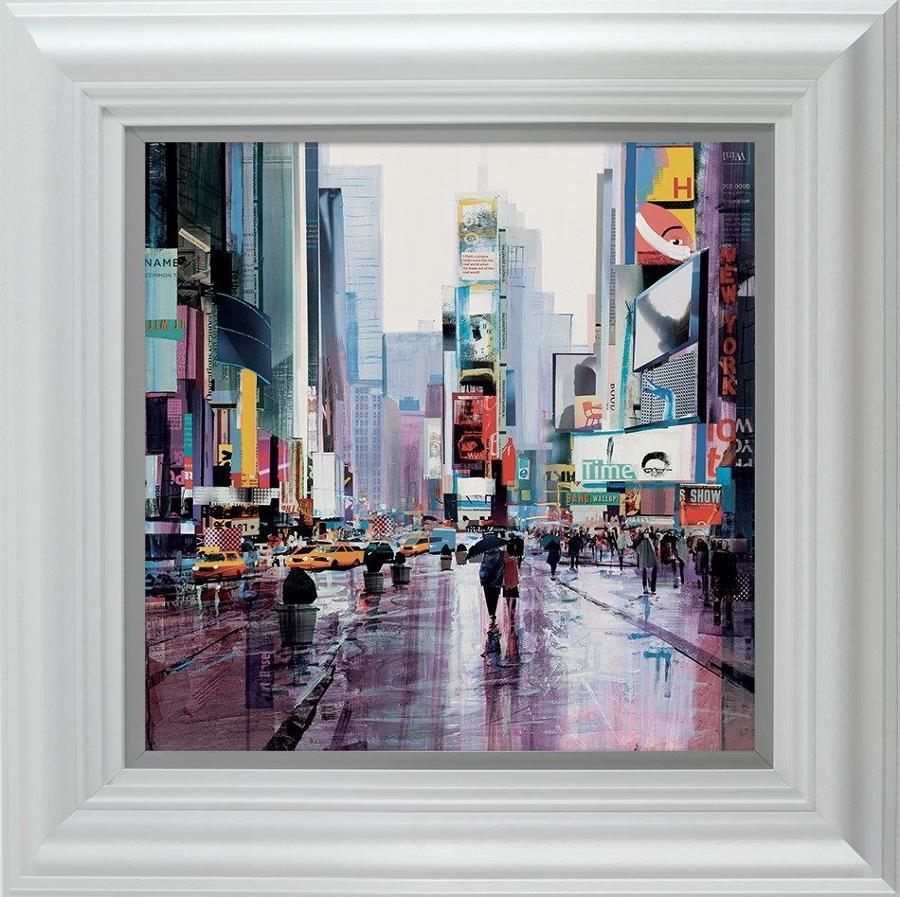 Crazy Times (New York) by Tom Butler-Framed Art Print