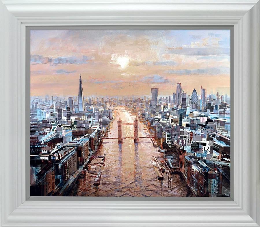 Last Rays ( London) by Tom Butler Framed Art Print
