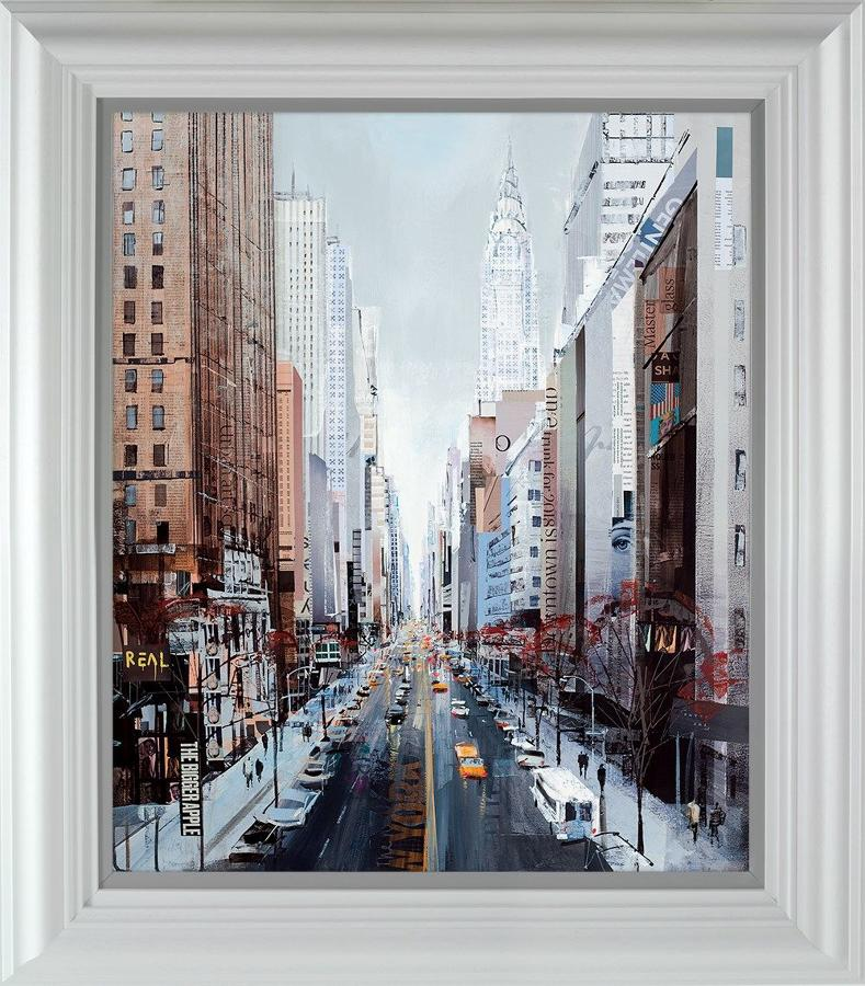 Streets Ahead (New York) by Tom Butler-Framed