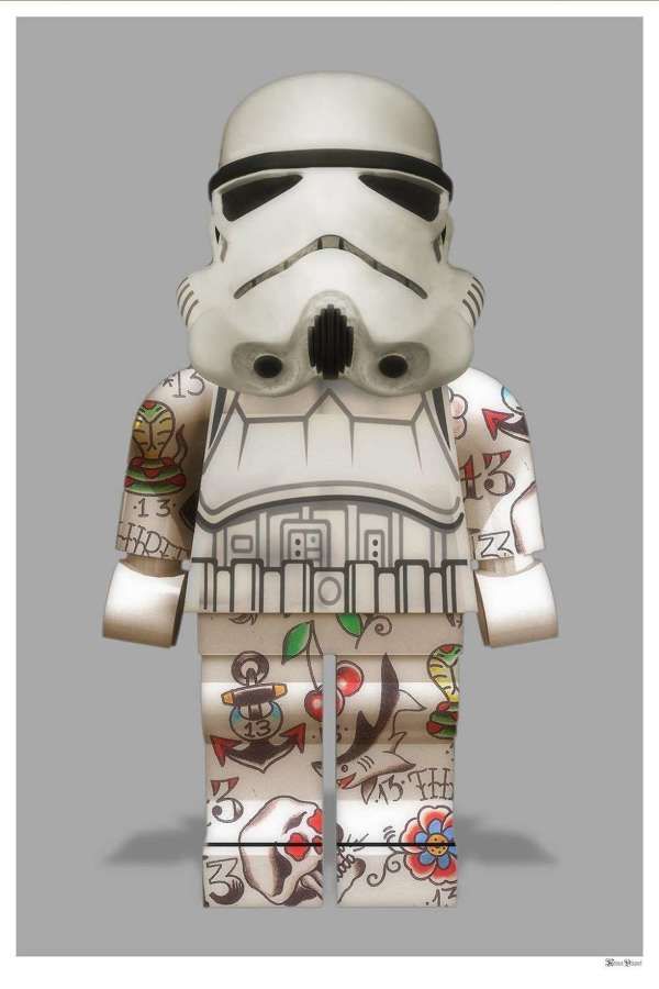 Lego Stormtrooper Framed Art Print by Monica Vincent