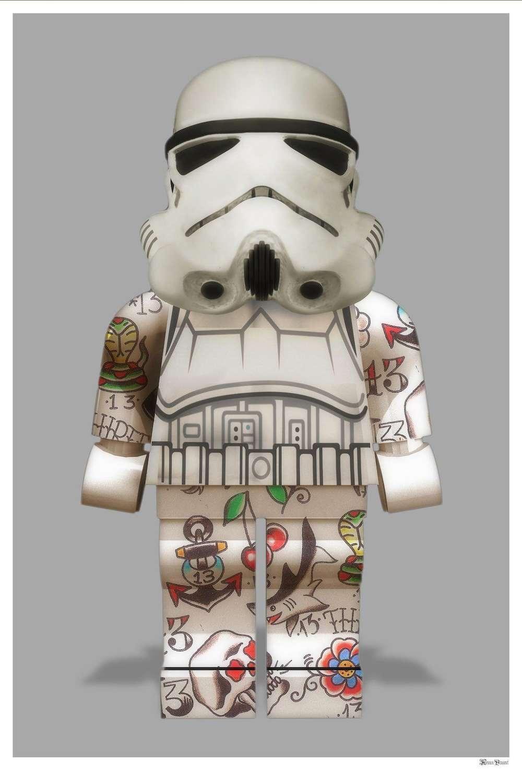 Lego Stormtrooper Framed Art Print by Monica Vincent