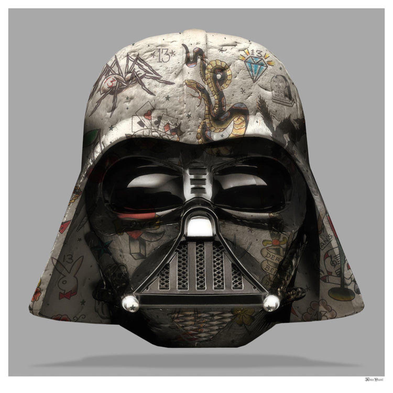 Darth Vader Framed Art Print by Monica Vincent