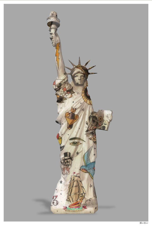 Liberty Framed Art Print by Monica Vincent