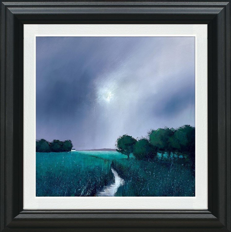 Barry Hilton- Emerald Meadow Framed Canvas Art Print