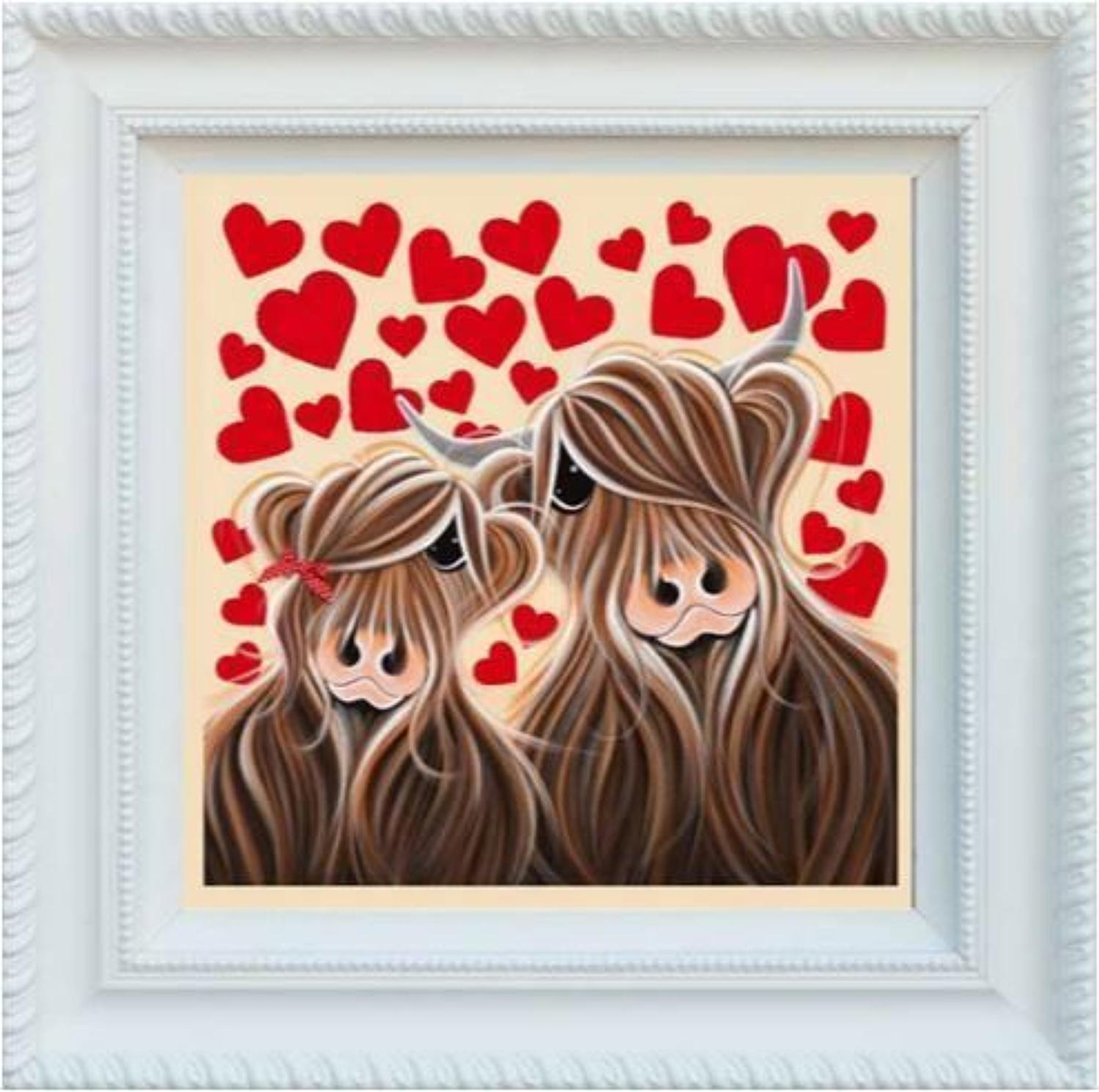 Mc Love By Jennifer Hogwood Framed Canvas Art Print