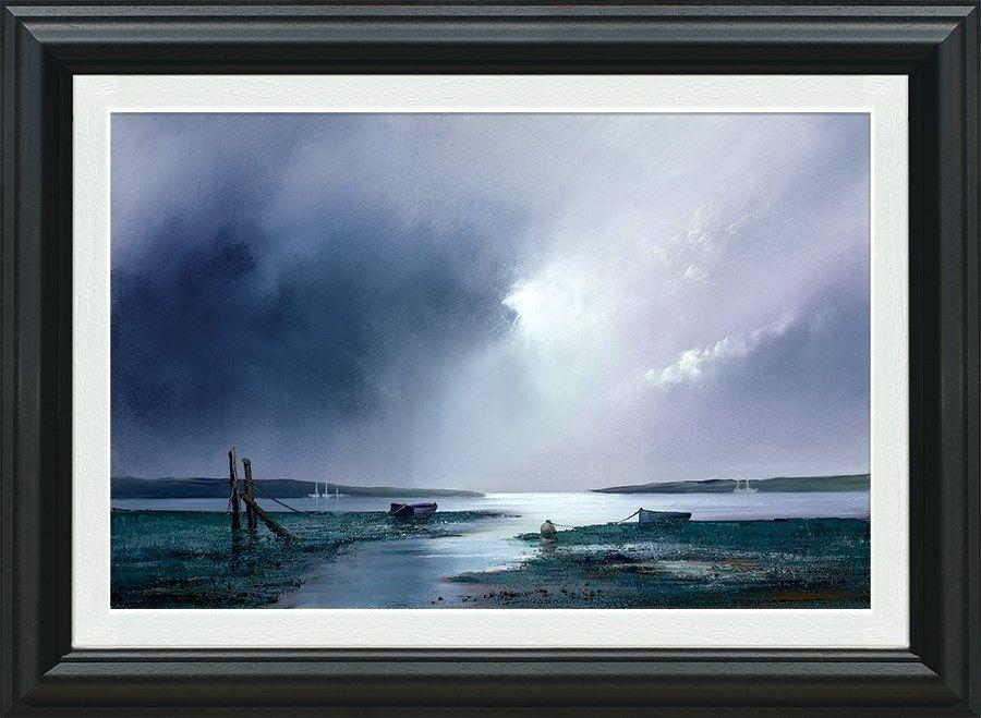 Barry Hilton - Violet Dawn Framed Canvas Art Print