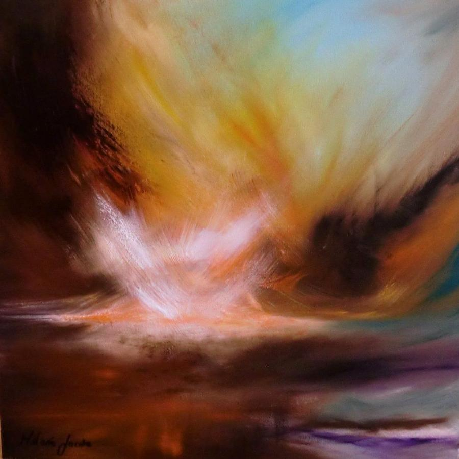 Melanie Jacobs Sunrise In Eden Framed Original Artwork