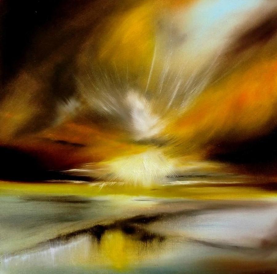 Melanie Jacobs Golden Summer Framed Original Artwork