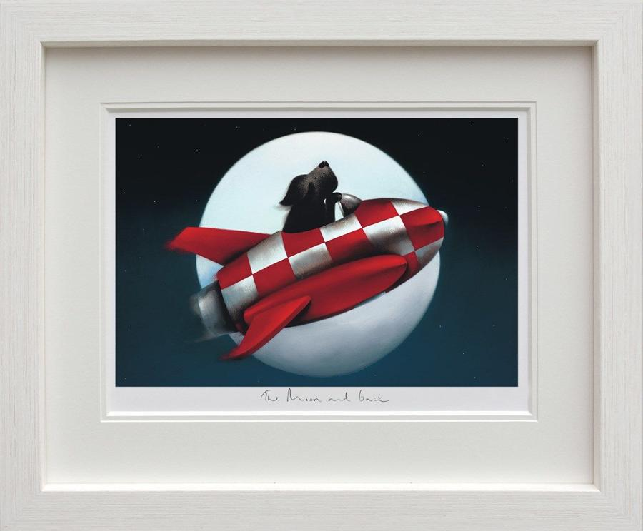 The Moon and Back - Doug Hyde Framed Art Print