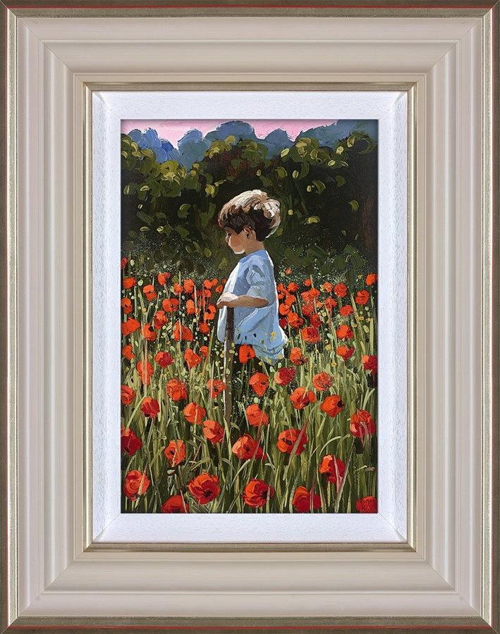 Sherree Valentine Daines Lost Amongst the Poppies Framed Art Print