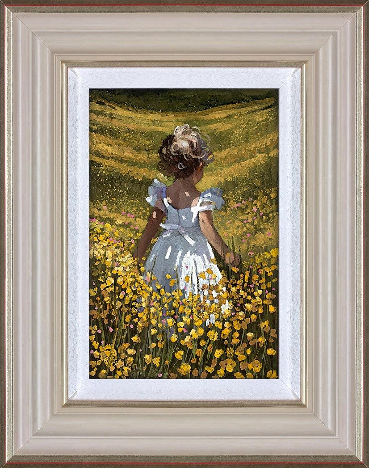 Sherree Valentine Daines Wildflower Meadow Framed Canvas Art Print.