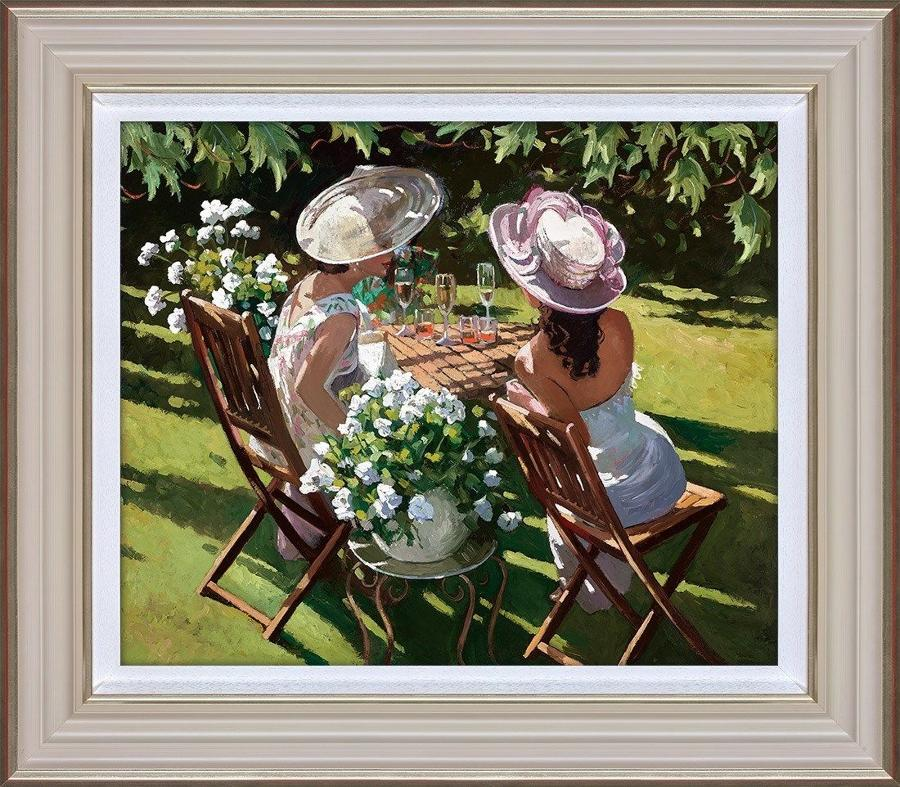 Sherree Valentine Daines Champagne Celebration Framed Canvas Art Print