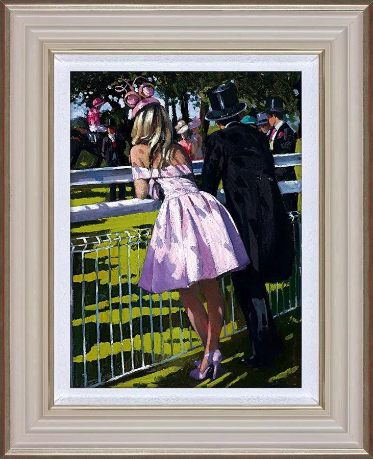 Sherree Valentine Daines Vision in Pink Framed Canvas Art Print
