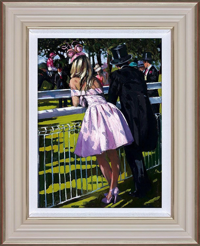 Sherree Valentine Daines Vision in Pink Framed Canvas Art Print