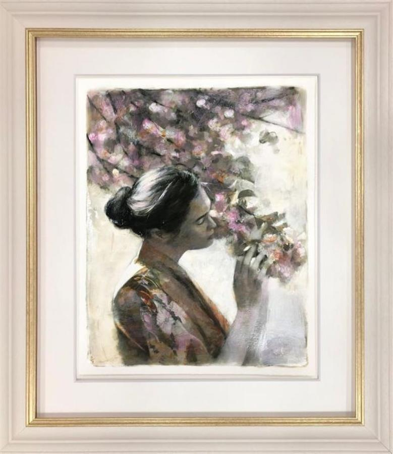 Fletcher Sibthorp Frailty of Hearts & Flowers Study Framed Art Print