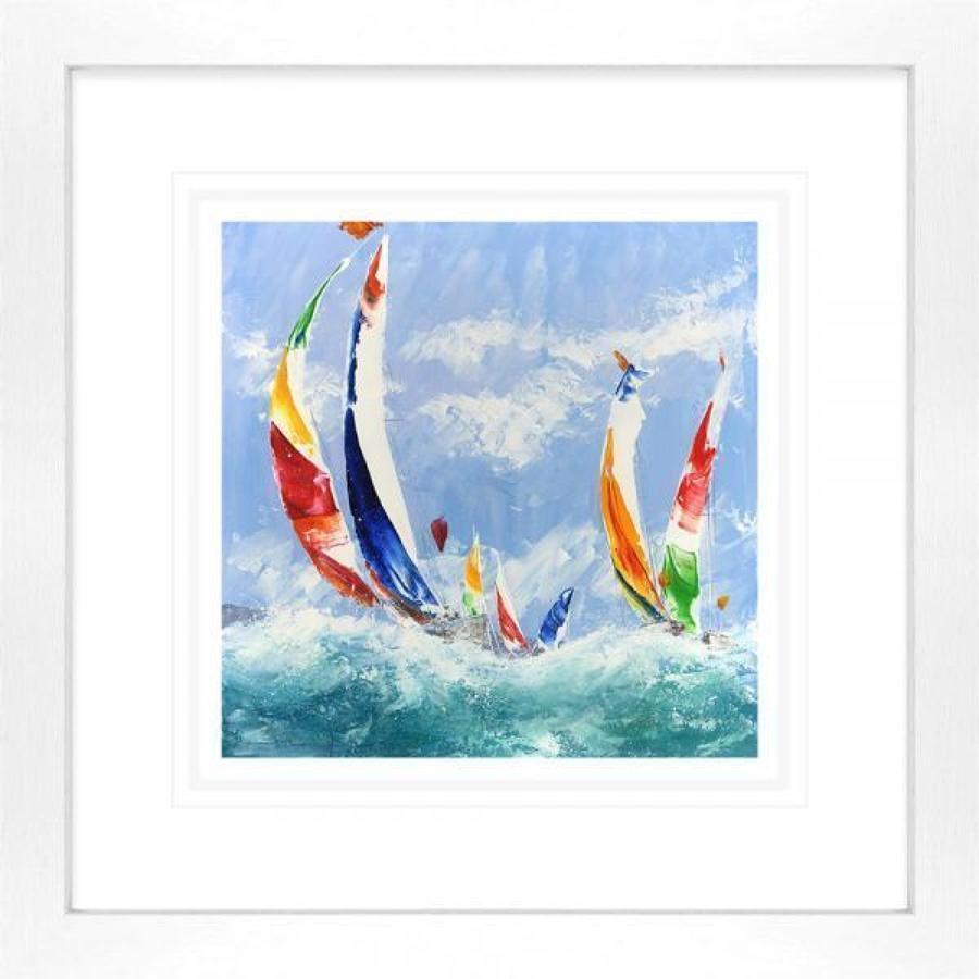 Spinnakers Away By Dale Bowen Framed Art Print