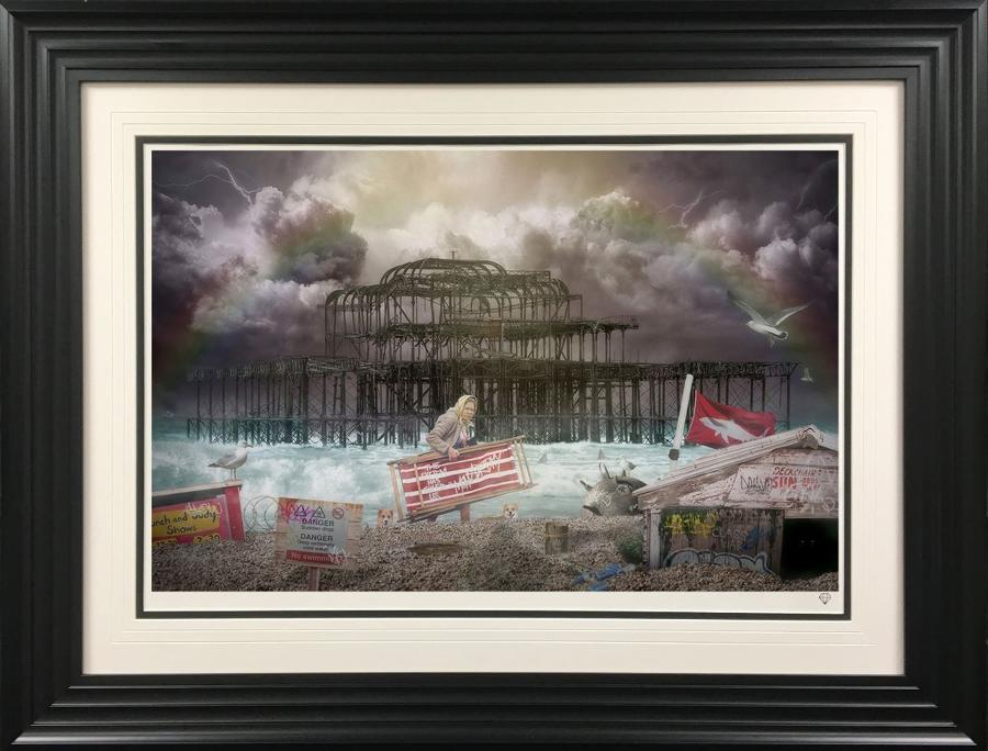 JJ Adams West Pier Framed Art Print