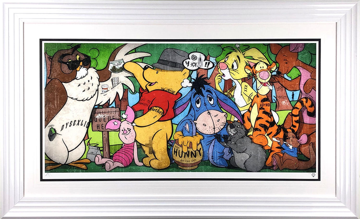 Hundred Acre Weed By JJ Adams Framed Art Print