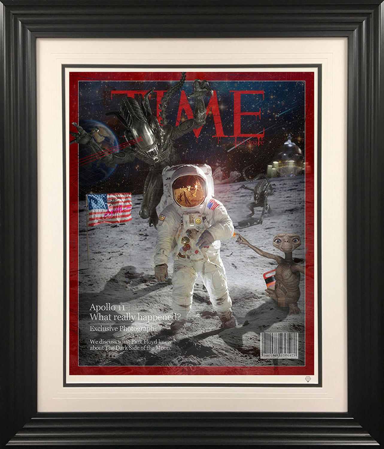 Darker Side Of The Moon By JJ Adams Framed Art Print
