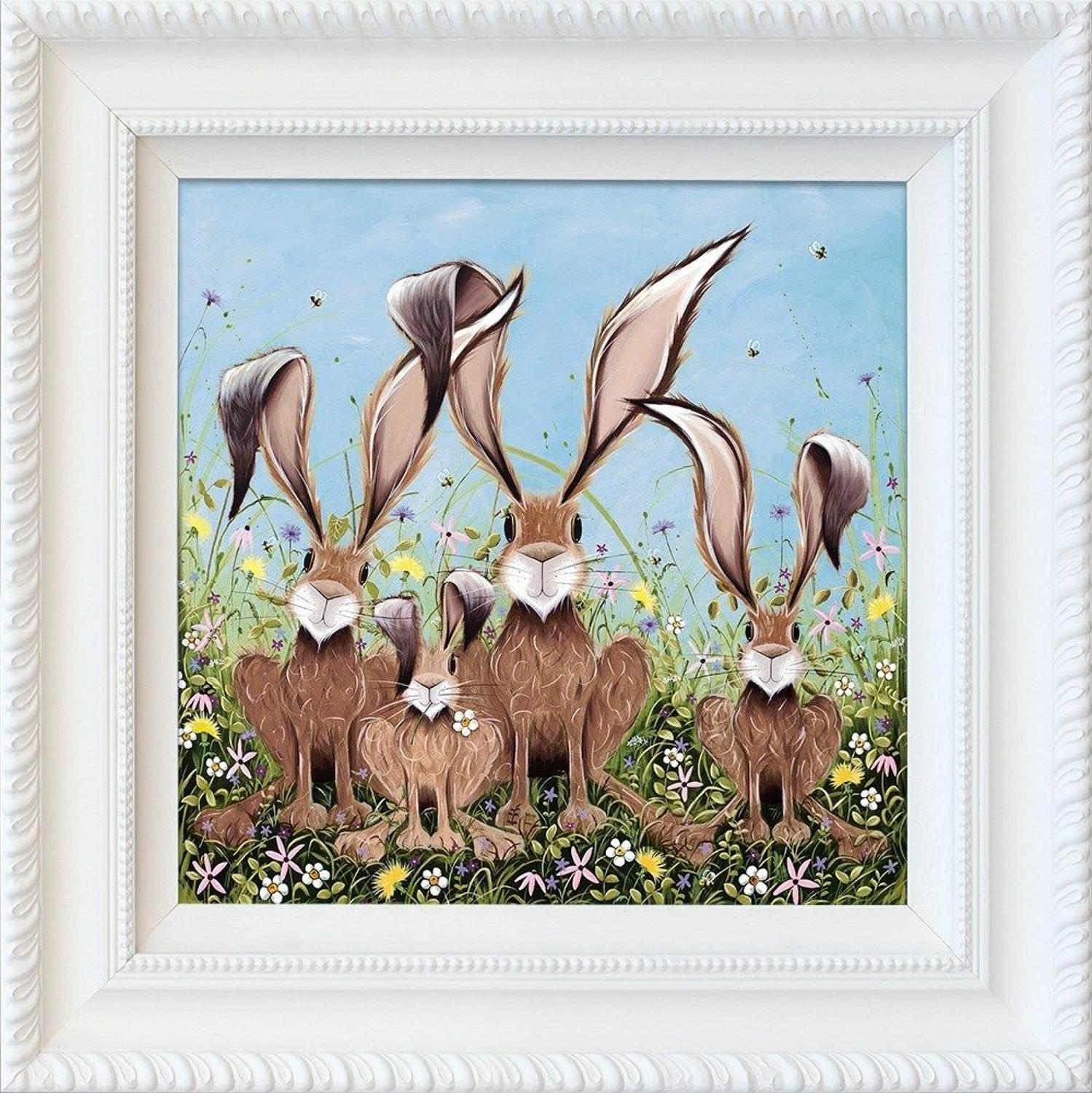 The McHoppers by Jennifer Hogwood Framed Art Print