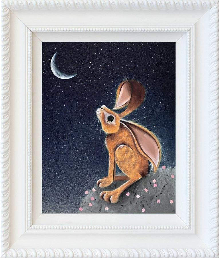 Moongazer by Jennifer Hogwood Framed Art Print