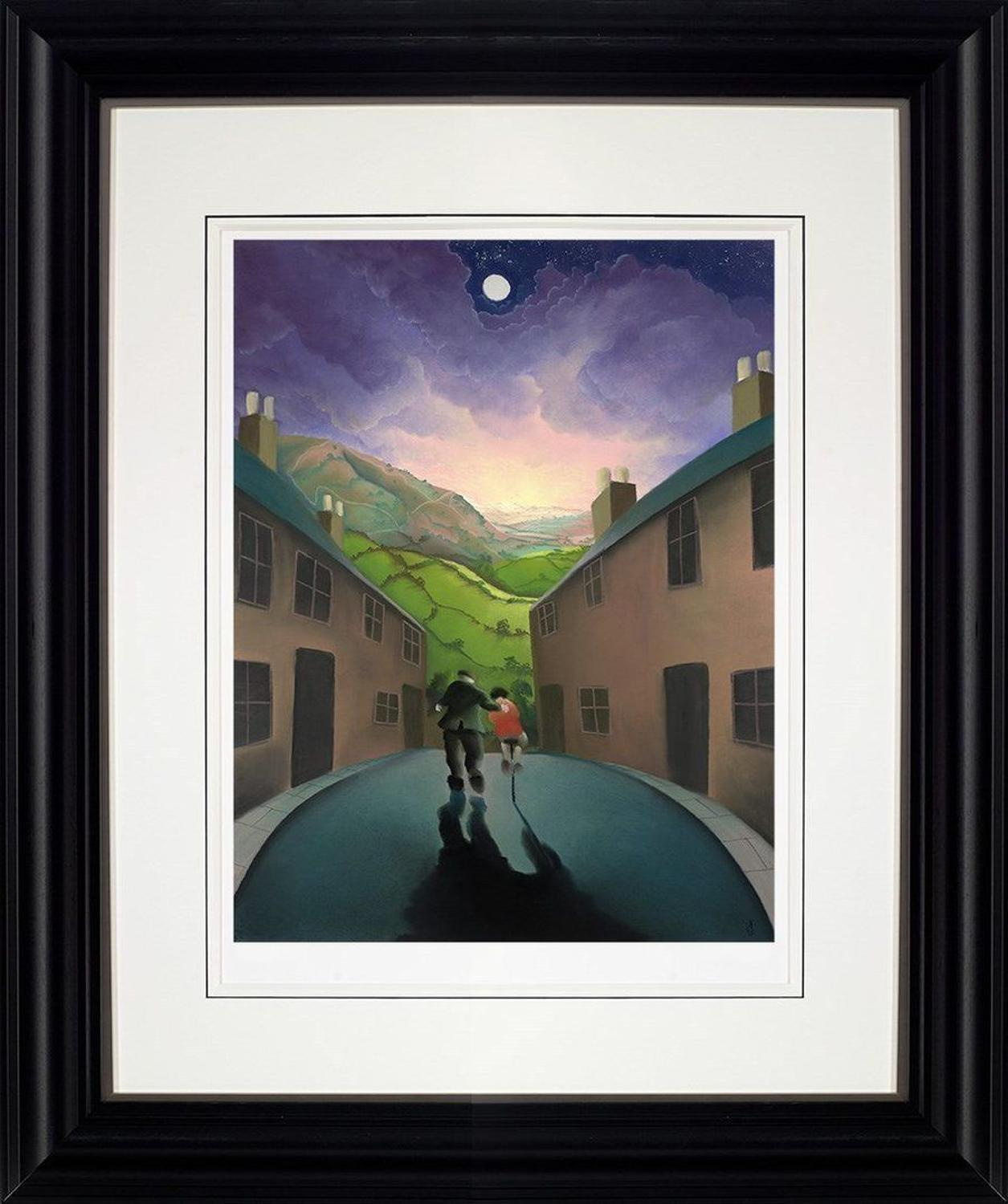 Riding With Grandad by Mackenzie Thorpe Framed Art Print.