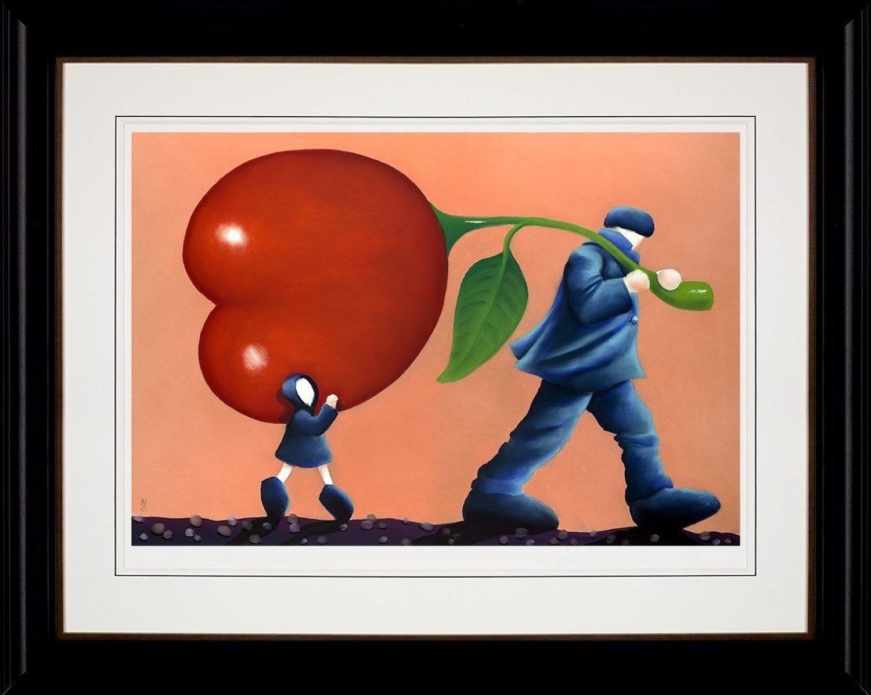 Helping Dad by Mackenzie Thorpe Framed Art Print.
