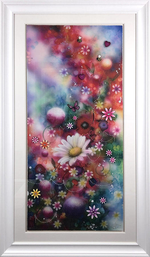 'Bloom' By Kealey Farmer Hand Embellished Framed Art Print