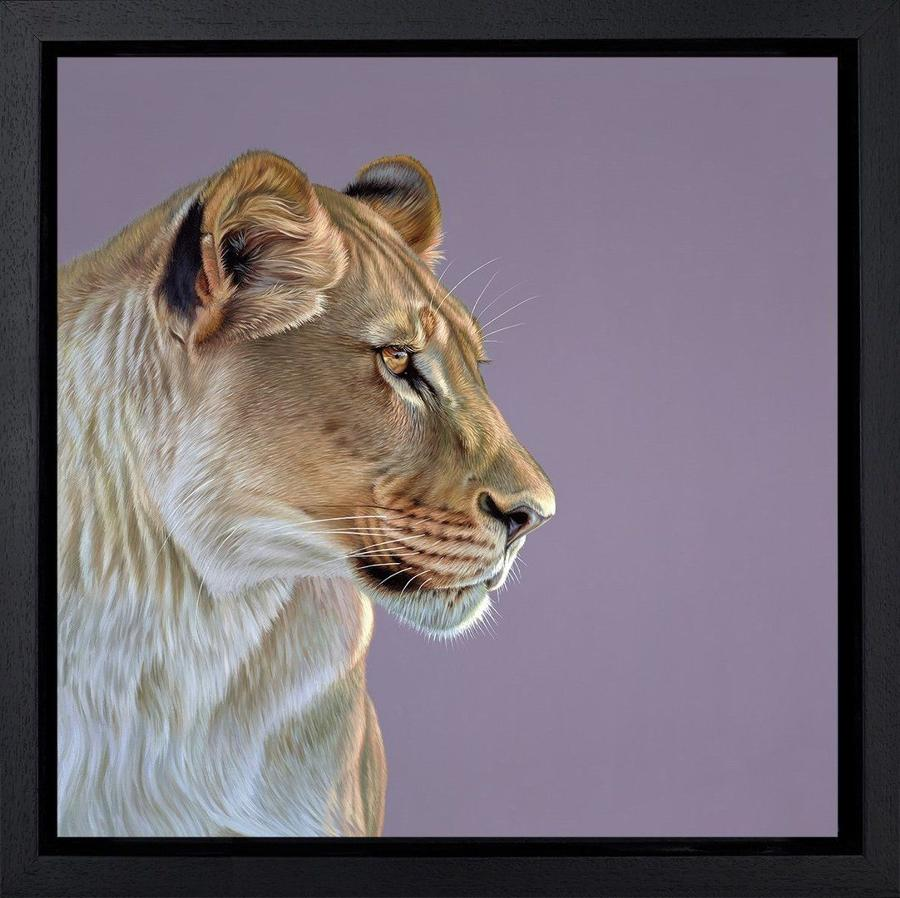 Queen of the Savannah by Darryn Eggleton Framed Canvas Art Print