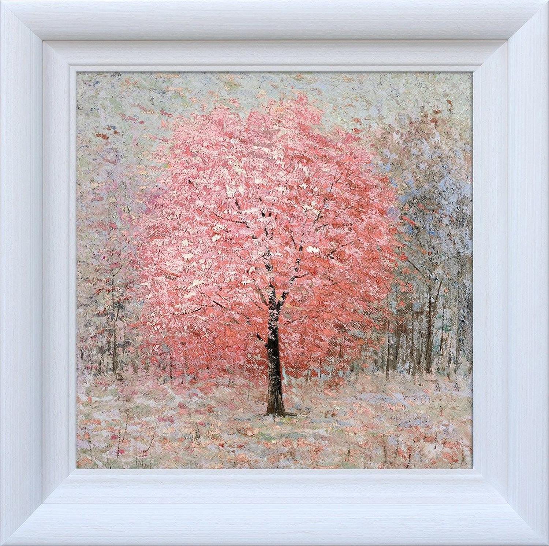 Shimmering Rose by Inam Framed Canvas Art Print