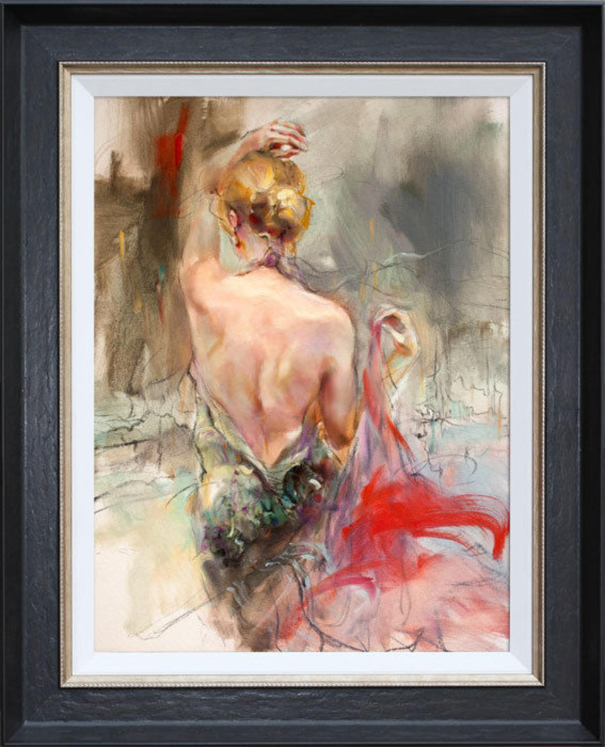 Elegant Muse ll by Anna Razumovskaya Framed Canvas Art Print