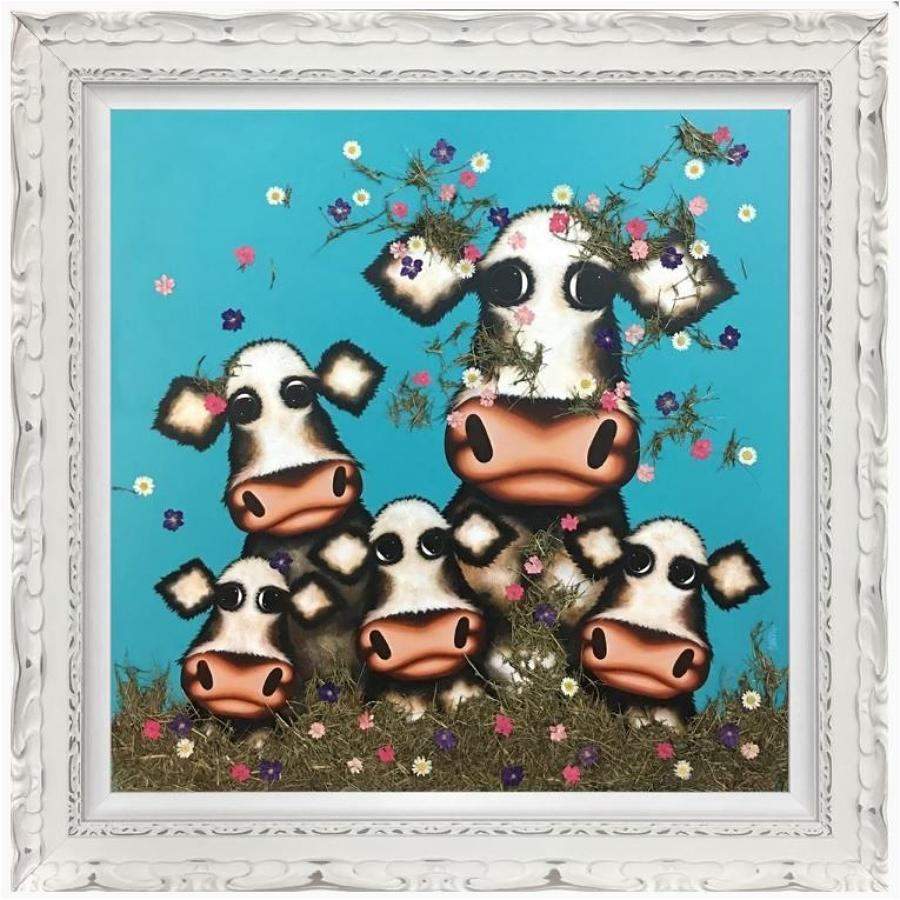 Was It You Little Moo? By Caroline Shotton Framed Canvas Art Print