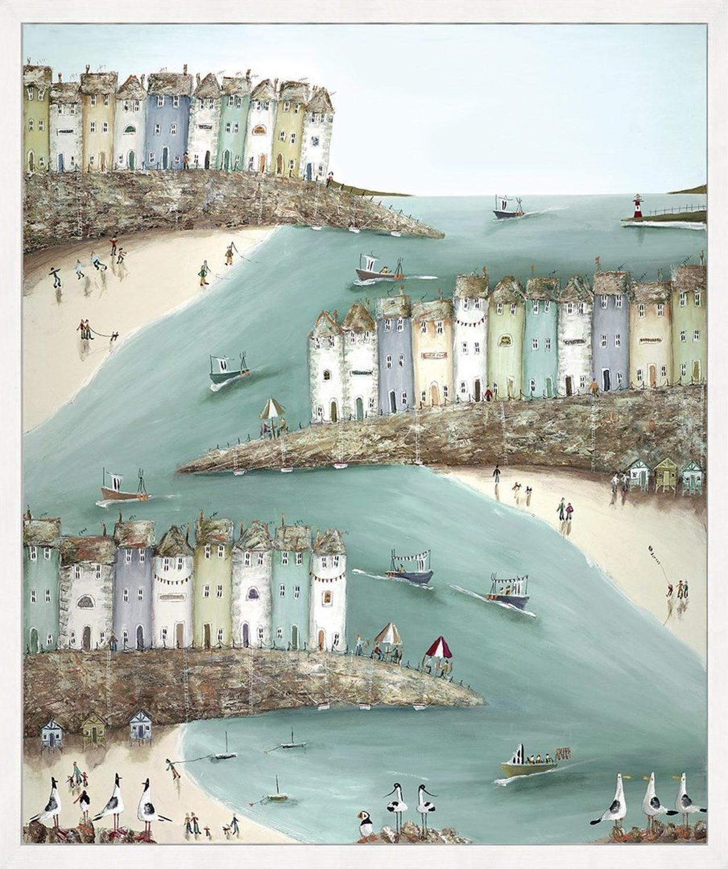 Shore Thing by Rebecca Lardner Framed Canvas Art Print