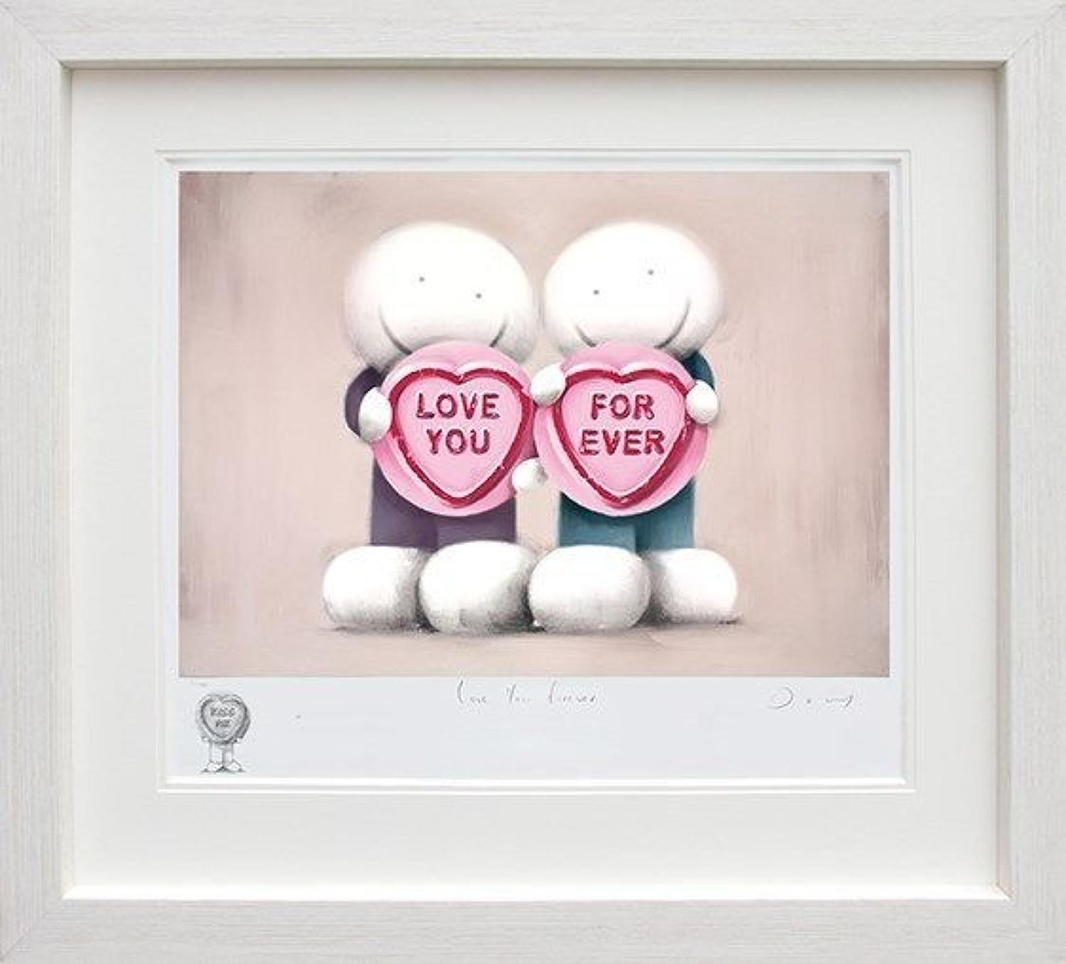 Love You Forever (Remarque) Framed Art Print by Doug Hyde