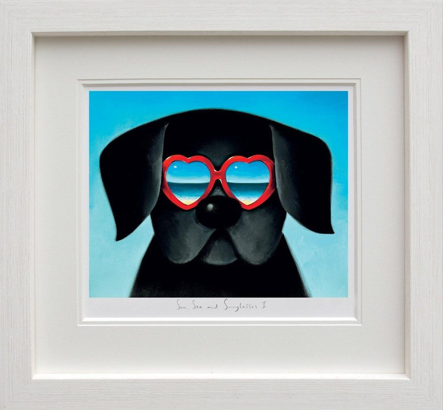 Sun Sea And Sunglasses I by Doug Hyde Framed Art Print
