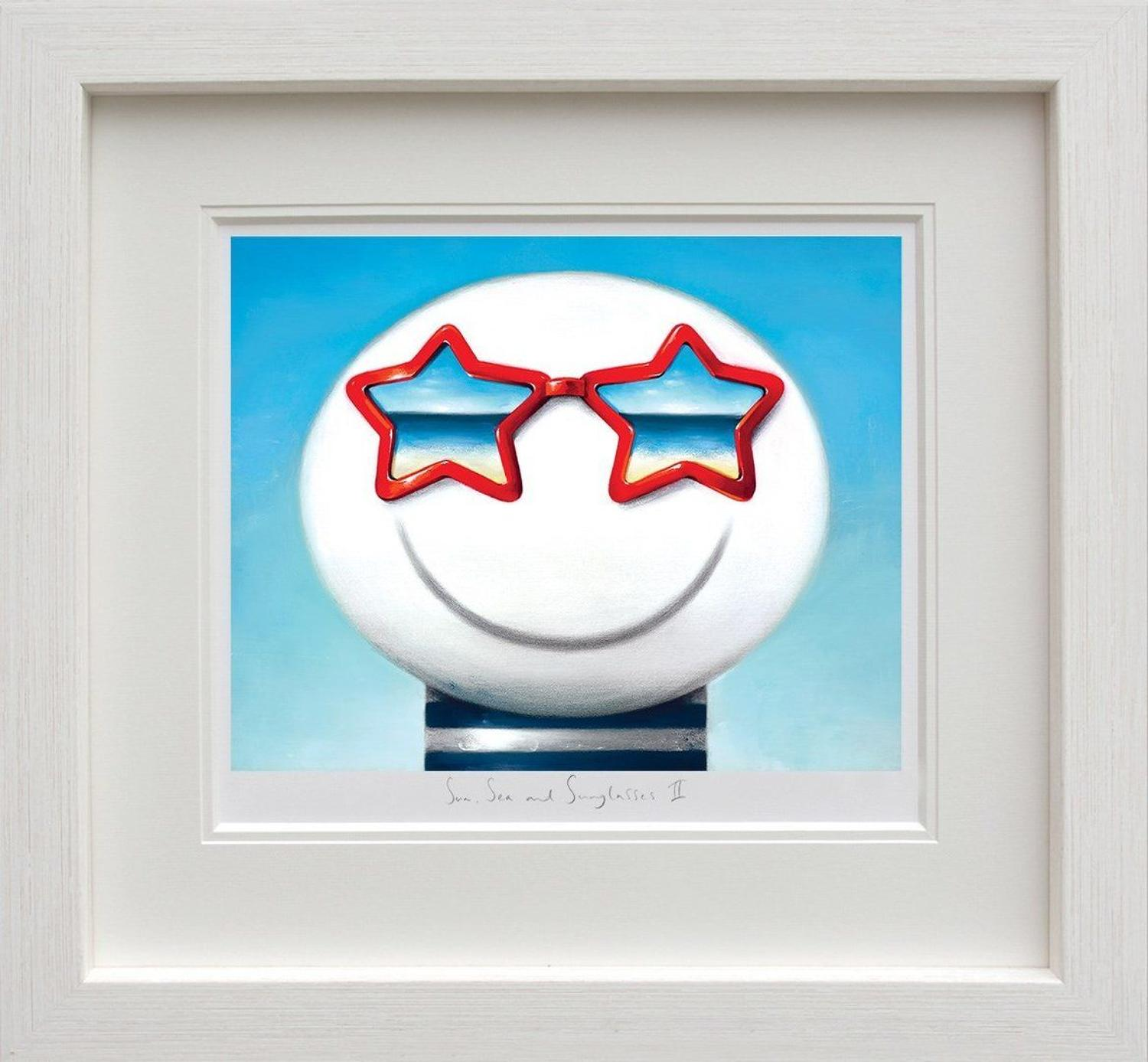 Sun Sea And Sunglasses II by Doug Hyde Framed Art Print