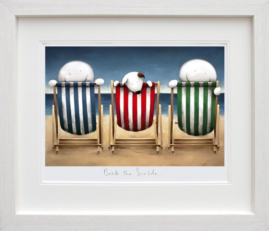 Beside the Seaside by Doug Hyde Framed Art Print
