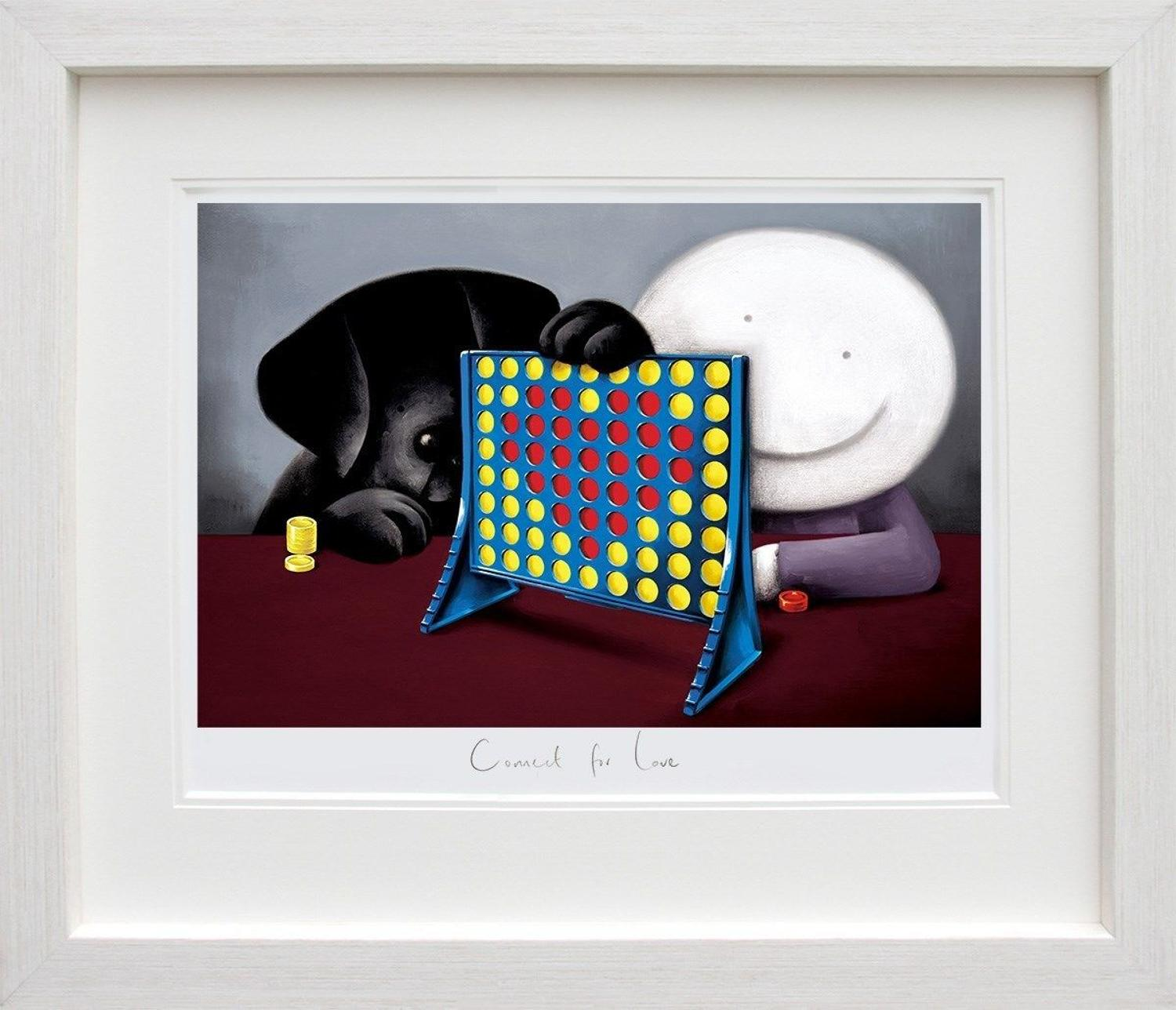 Connect 4 Love by Doug Hyde Framed Art Print
