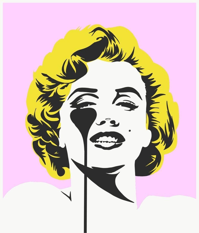 I Dream Of Marilyn Golden Hair Art Print by Pure Evil