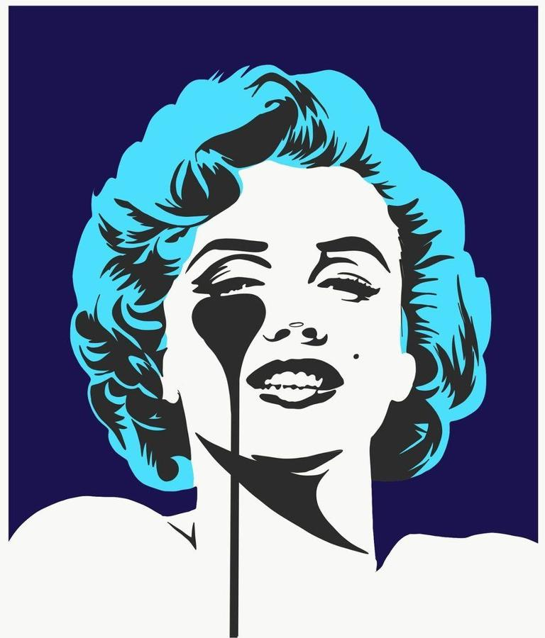 I Dream Of Marilyn - Glacier Blue Hair Art Print by Pure Evil