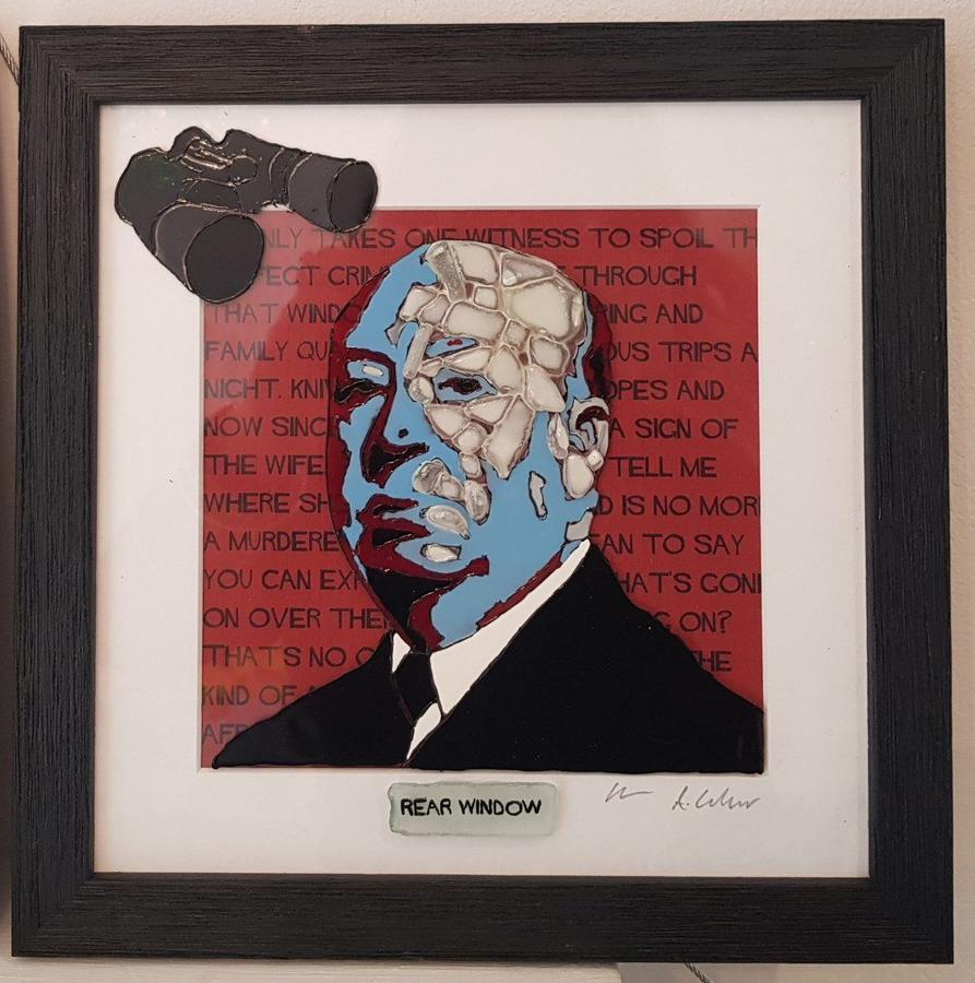 Hitchcock - Rear Window by Sea On Glass Framed Art